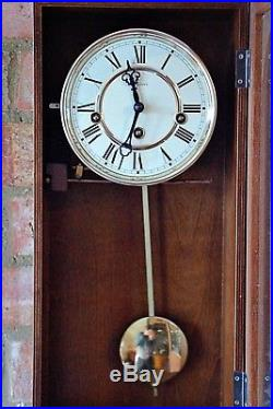 Vintage German Rapport 8-Day Wall Clock with Westminster Chimes