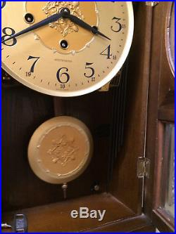 Vintage Germany Linden Westminster Chime Wall Clock 8 Day