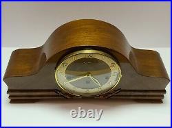 Vintage HERMLE German Mid Century Modern Westminster Chime Mantel Clock Germany