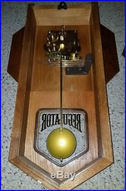 Vintage HOWARD MILLER Regulator Westminster Chime Clock Oak Casing #612-533