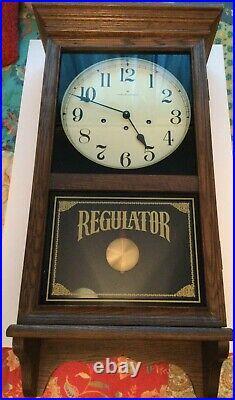 Vintage Hamilton Masterpiece Regulator Large Wall Clock Westminster Chimes