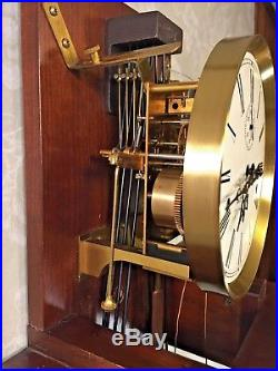 Vintage Hamilton Wall Clock with Westminster Chimes Weight and Spring Driven