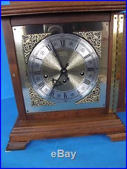 Vintage Hamilton Westminster Chime Carriage Shelf/mantle Clock With Key-works