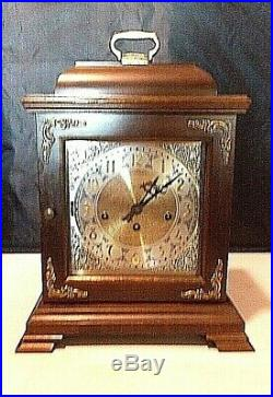 Vintage Hamilton Wheatland Westminster Chime Carriage Mantle Clock