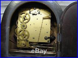 Vintage Heco Art Deco Tambour Camel Back Shelf/Mantle Westminster Chime Clock