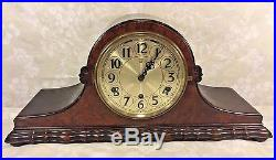 Vintage Herman Miller Tambour Case Clock Westminster Chimes Circa 1920s Runs