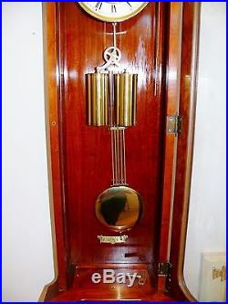 Vintage Hermle 2 Weight Driven Westminster Chime 4 4 Wall