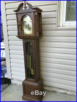 Vintage Hermle 451-050 Black Forest Clocks Grandfather Clock Westminster Chime
