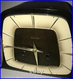 Vintage Hermle German Mid Century Modern Westminster Chime Mantel Clock