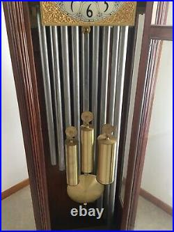 Vintage Herschede 9 Tube Grandfathers / Hall Clock