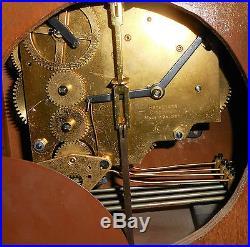 Vintage Herschede Winthrop Westminster Chime Wall Clock Cincinnati Ohio Working