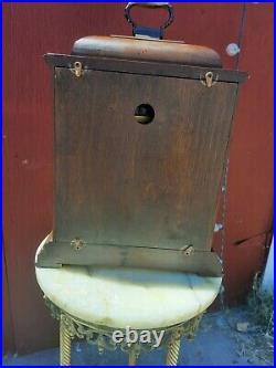 Vintage Howard Miller 1050-020 Triple Chime Wood Mantel Clock Working with key