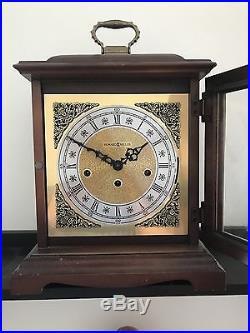 Vintage Howard Miller 612-437 Windup Bracket Mantel Clock Westminster Chimes