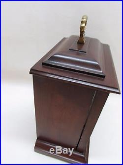 Vintage Howard Miller 8 Day 141 Key Wind Mantle Clock Westminster Chimes