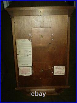 Vintage Howard Miller Double Dial Calendar Westminster Chime -2 Jewels Clock