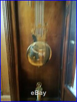 Vintage Howard Miller Grandfather Clock Model 610-406