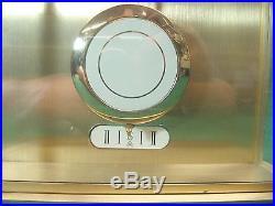Vintage Howard Miller Long Case Brass Wall Clock Westminster Chime Quartz, 20