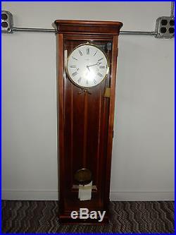 Vintage Howard Miller Milan Wall Clock Westminster Chimes 613-212 Cherry Cabinet