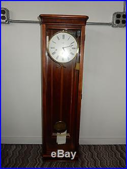 Vintage Howard Miller Milan Wall Clock Westminster Chimes 613-212 Cherry Cabinet