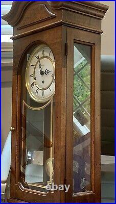Vintage Howard Miller Model# 143 Wall Clock Westminster Chime Wind Key Pendulum