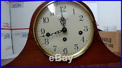 Vintage Howard Miller West Germany Westminster Chime Wood Mantle Clock 612 439