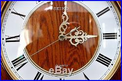 Vintage Japanese'Seiko' Quartz Wall Clock with Westminster Chimes