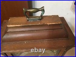 Vintage Junghans 8-Day Bracket Mantle Clock Westminster Chime Restoration Projek