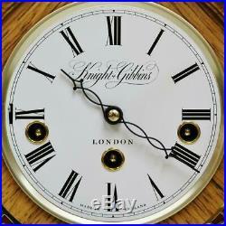 Vintage Knight & Gibbins 8 Day Westminster Chime Musical Mantel Bracket Clock