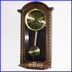 Vintage Larius W. German Westminster Chime 8 Day Wall Clock