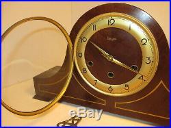Vintage Linden 8 Day Shelf/Mantle Clock Westminster Chime Germany Cuckoo Mfg