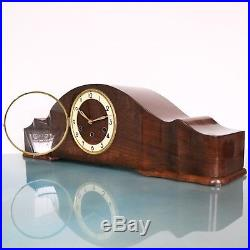 Vintage MAUTHE German Mantel Clock WESTMINSTER Chime! 28.7 Inch HIGH GLOSS LARGE