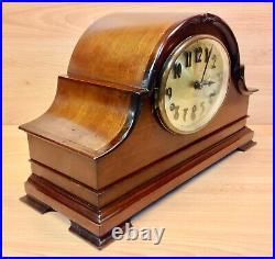 Vintage Mahogany Case Westminster Chime Large Mantle Clock