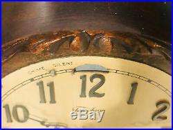Vintage Mantle Clock Wood Telechron REVERE Westminster Chime WORKS Glass Door
