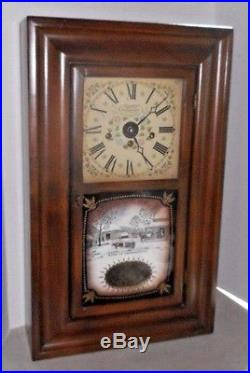 Vintage New England Westminster Ogee-style Chime Clock Working Farmington Conn