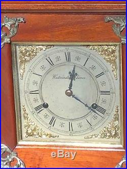 Vintage New Haven Westminster Chime Clock No. 5 Mantle Clock
