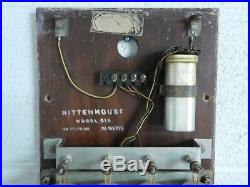 Vintage Rittenhouse Westminster Door Chime with Clock Model 610 AS IS