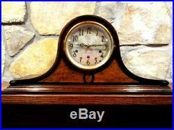 Vintage SETH THOMAS # 124 WESTMINSTER Chime Mantle CLOCK Works BEAUTIFUL