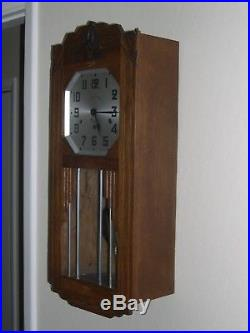 Vintage SOMAIN Westminster Chimes Wall Clock Made in France
