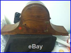 Vintage Sessions Mantle Clock Mahogany Inlay Westminster Chime