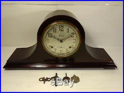 Vintage Sessions Wooden Chiming Humpback 272 Westminster 1 Mantel Clock hd420