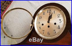Vintage Seth Thomas Inlaid Westminster Chime Mantle Clock 113 Movement Repairs