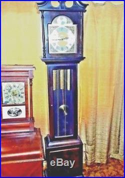 Vintage Seth Thomas Mahogany Westminster Chime Grandmother Clock