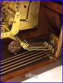 Vintage Seth Thomas Mantel Clock Westminster Chimes Runs Strikes & Chimes 124 Mo