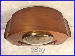 Vintage Seth Thomas Southbury Mantel Clock Art Deco Case Westminster Chimes Runs