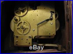 Vintage Seth Thomas Tambour Camel Back Shelf/Mantle Westminster Chime Clock