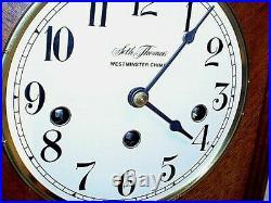 Vintage Seth Thomas''monticello'' Westminster Chime Mantle Shelf Clock