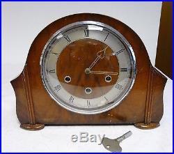 Vintage Smiths 8 Day Westminster Chime Mantel Clock