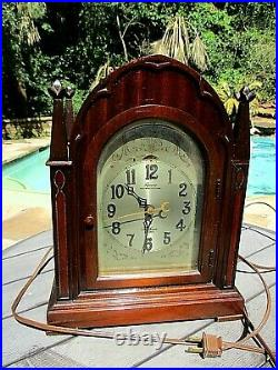 Vintage Telechron Revere Gothic Electric Clock Westminster Chime