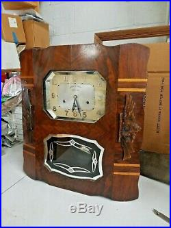 Vintage Veritable Westminster Chime Clock Ave Maria art deco