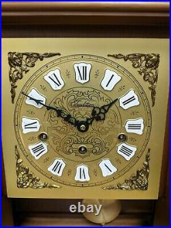 Vintage W. Haid Wall Clock Westminster Chimes 351-020 With Key Working
